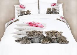queen bedding fun animal print design duvet cover set dolce mela dm486q