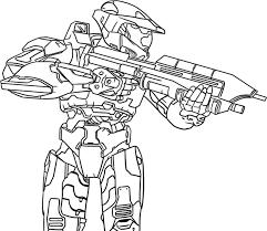 Halo Spartan Coloring Pages Color Bros