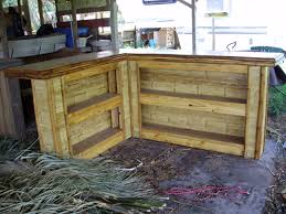 home patio bar. Fabulous Outdoor Bar For Your Home Inspiration: L Shaped Bamboo Board Natural Patio