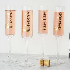 personalized  oz gold cheers contemporary champagne flutes (set