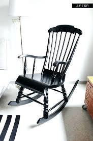 outdoor black rocking chair black wood rocking chair a nursery wooden rocking chair makeover with paint