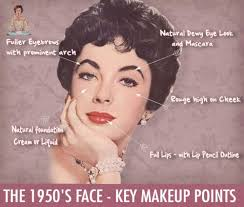 1950s face key makeup points