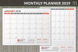 Indesign Calendar Template Adorable Editable Monthly Planner 44 InDesign Template Etsy