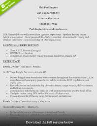 Mover Resume Examples Mover Resume How To Write A Perfect Truck Driver Resume With 18