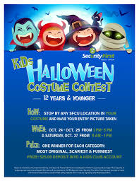Kids Halloween Costume Contest Security First Credit Union