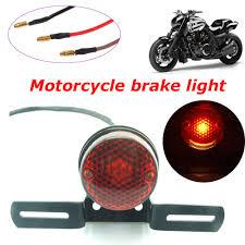 Universal Motorcycle License Plate Light Details About Universal Motorcycle Motorbike Rear Tail Brake Stop Number License Plate Light