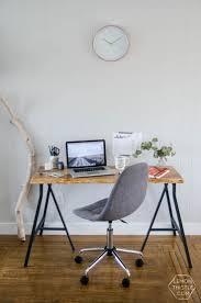Ikea Office Design DIY Live Edge Desk An Ikea Hack Home Office DesignOffice Design