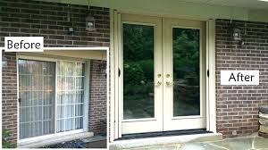 replacing garage door with sliding glass door patio garage doors traditional restaurant replacing roller door with