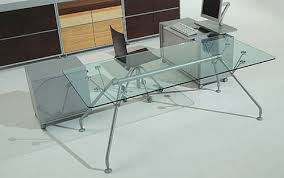 italian glass furniture. Italian Office Desk Clear Glass Furniture Design I