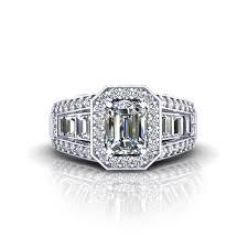 emerald cut diamond enement ring