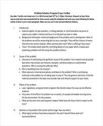 examples of essay outlines problem solution proposal essay outline
