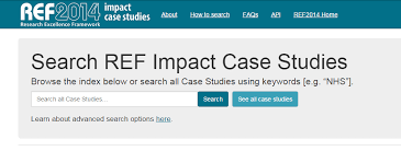 REF        Research quality   Research   Kingston University London The inclusion of impact case studies in the recent Research Excellence  Framework  REF  exercise and the Research Council UK s funding of eight  universities
