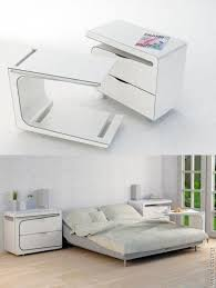 inter locking bedside table w slide out drawers bed tray desk top