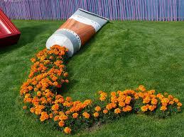 flowers garden. Spilled Flowers Garden T