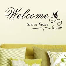 Small Picture Welcome To Our Home Quote Removable Vinyl Decal Decals Wall