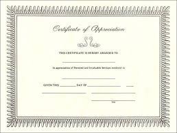 Free Template Certificate Free Certificate Of Appreciation Sample Blank Certificate Of 20
