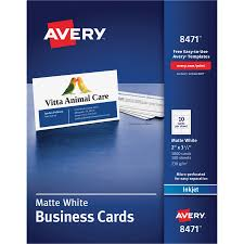 Avery Template 88220 Avery Business Card Tierney Office Products