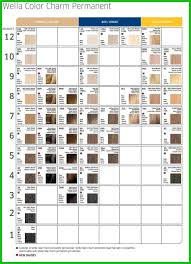 Hair Dye Colors Chart Five Star Hair Color Chart Wella Image Of Hair Color Tricks