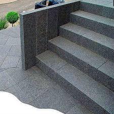 Granit treppen nach wunsch und preise nach maß. Granit Palisaden Alvaro Dunkelgrau 8 X 25 Cm Natur Steine Org