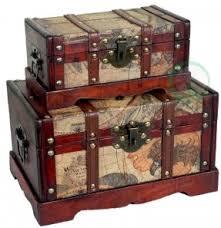 Large decorative storage trunks 8