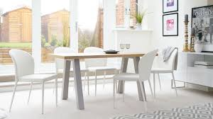 modern oak 6 seater dining set faux leather chairs in seat table plan 8