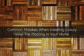 improper alignment of luxury vinyl tiles