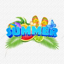 新鮮な果物と夏の要素のイラストのバッジ 夏の休暇 イラスト ビーチ画像