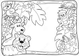 Small Picture 9 Jungle Coloring Pages JPG AI Illustrator Download Free