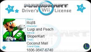 Mario License Kart By Deviantart Rubssoul On Wii