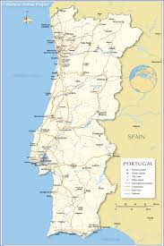 Political Map of Portugal - Nations Online Project