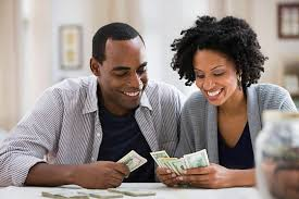 Image result for images of couples going to a bank
