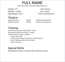 Theatre Resume Templates Best Theater Resume Template Elegant Theater Resume Template Bizmancan