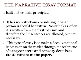 narrative essay for week  the narrative essay