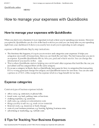 How To Manage Your Expenses With Quick Books Quickbooks Online