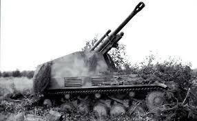 Image result for German Wespe self-propelled gun