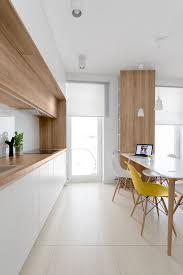 modern kitchen furniture. cuisine blanc et bois chic chaise jaune white and timber kitchen 081architects modern furniture