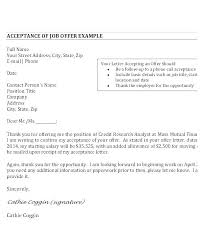 Employment Acceptance Letter Job Offer Acceptance Letter Reply Fujibell Com