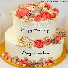 happy birthday cake with name edit free