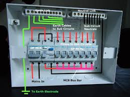 diy wiring a consumer unit and installation distribution board the detailed internal wiring for the sample db and mcbs and rcd units used
