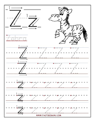 Gallery of printable letter z tracing worksheets for preschool ...