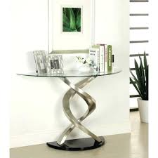 half round entry table half circle entry table beautiful console throughout glass plans with round entryway