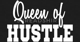 Hustler Quotes Extraordinary QUEEN OF HUSTLE Flock Print HUSTLERS QUOTE By TagLines Spreadshirt