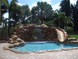 ... Exterior Design, Pools With Waterfalls For Nice Design Inspiration  Swimming Pool With Waterfall Pool With ...