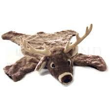 Sunland Home Decor Sunland Home Decor Sdr300 Plush Animal Rug 36in White Tail Deer