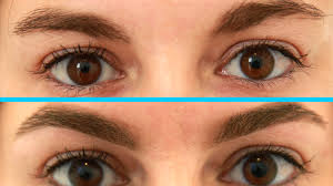 trim eyebrows before and after. trim eyebrows before and after