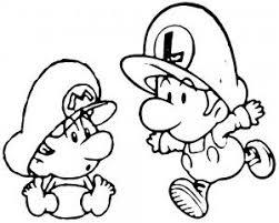 Baby Mario Baby Luigi 2 Kleurplaat Mario Mario Coloring Pages