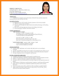 Samples Of Resume For Job 60 sample of cv for job application edu techation 8