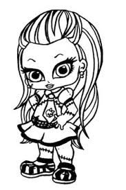 Small Picture Baby Monster High Coloring Pages Monster High Deuce Gordon
