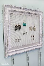 Jewelry Organizer Diy Shabby Chic Plastic Canvas Diy Jewelry Organizer