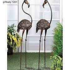 wrought iron garden stakes impressive on iron garden decor cast iron flamingo art metal decor